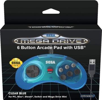 Sega Mega Drive Mini Oficiálny panel BLUE USB PS3