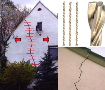 Špirálová kotva na krakovanie v 6 mm x 10 m fasády
