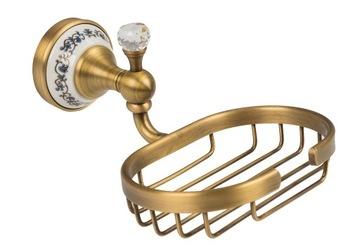 Držiak na mydlo na umývanie riadu v retro štýle zo zlata