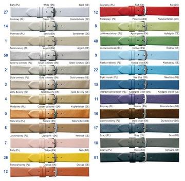 Kožené remienky s remienkom, farby od 8 do 40 mm