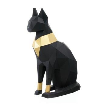 """3D figúrka """"Cat Bastet"""", čierna DIY NOVINKA"""