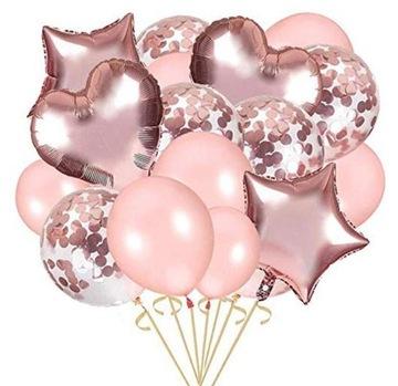 Ružové zlato. Balóny k 18. narodeninám, svadba, večierok P36