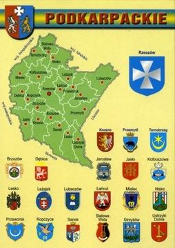 Podkarpackie provincia Mapa Herby WR806 10 Položky