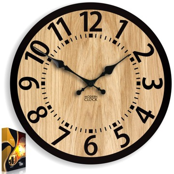 Drevené nástenné hodiny Dub BERLIN 33 cm tiché