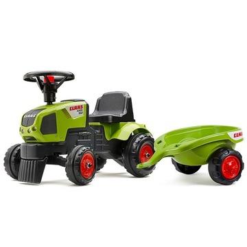 FALK Traktor Claas s prívesom Jeździk Chodzik