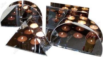 3D zrkadlový svietnik s ilúznym efektom