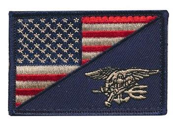 Americká vlajka Vlajka Navy TESNESS VELFRO