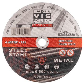 Disk 230x2,0 mm na rezanie kovov vis