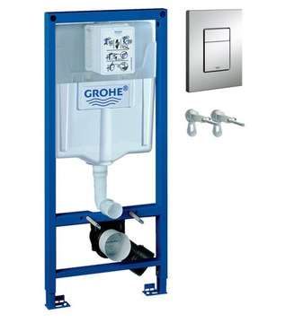 GROHE WC 3v1 stojan + konzoly + tlačidlo