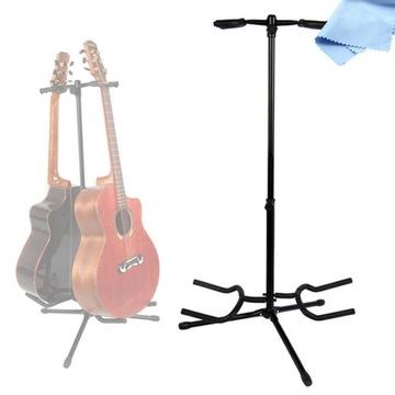 Guitar statív stojí na 2 gitary s uzamknutom zámku