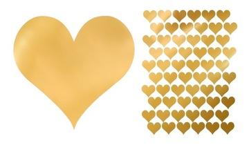 Samolepky srdca zlato samolepiace 240 kusov