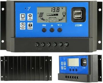 Solárny regulátor nabíjačky 12V 24V 40A Controller