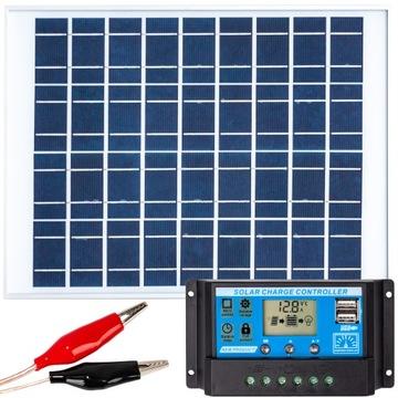 Solárna panelová solárna batéria 20W 12V Regulátor
