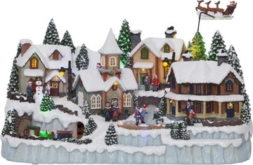 Švédska vianočná hudobná skrinka s led osvetlením