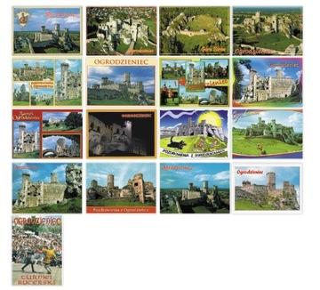 Ogrodziecie Castle pohľadnice nastaviť 17ks