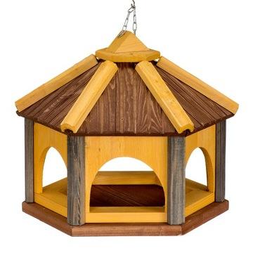 Krmítka Kŕmidlo pre vtáky drevo 9 farieb K40