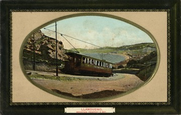 Llandudno. Horská električka & Bay. Dobre. 1910
