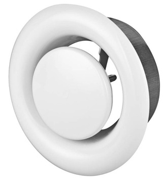 VÝFUKOVÝ difúzor kovový, priemer 100 mm + RÁM