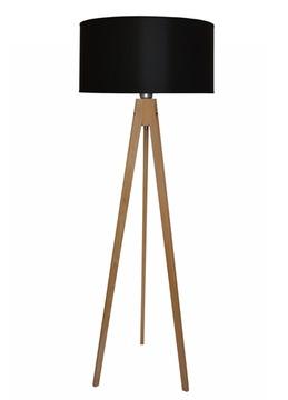 Čierna stojanková lampa - SVEA