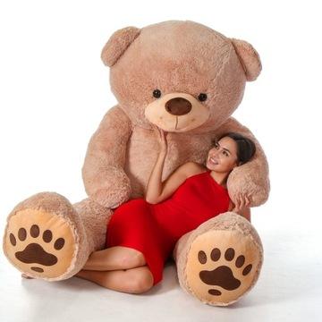 Veľký plyšový medveď 200 cm v dvoch farbách, výšivka maskota