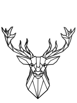 Geometrická dekorácia 3D XL jeleň