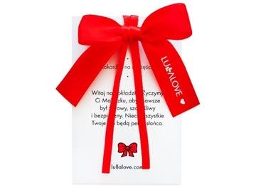 Lullalove červená mašľa pre šťastné dieťa
