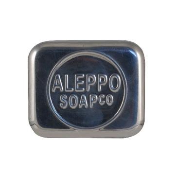 Aleppo Mydlo Co. Uzavretá hliníková miska na mydlo