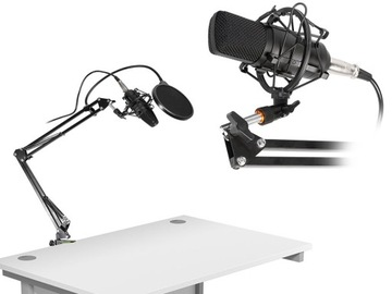 Set Studio Pro Microphone USB Pop Filter Statív