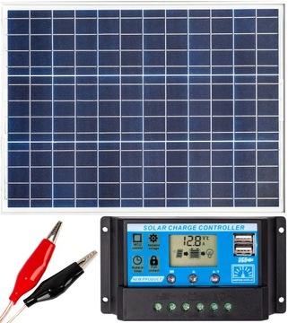 Solárna panel Solárna batéria 50W 12V Regulátor