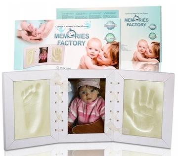 Hlinený rám so stopou detskej rúčky + zdarma