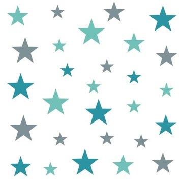 Nálepky na stenu s hviezdičkou, sada 159 kusov