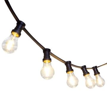 Záhradné ŽIAROVKA 20mb + 20 LED 2W žiarovky s vláknom