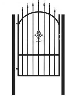 Plotová bránka + stĺpiky, brána, sada C4