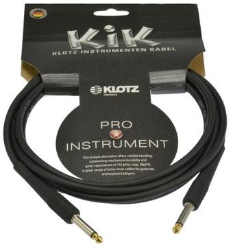 KLOTZ Instrumental Cable Jack 6.3 Guitar Gold 3m