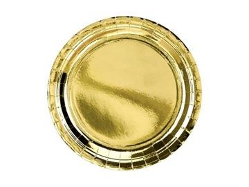 Papierové platne zlato na narodeniny 23cm 6ks