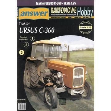Odpoveď 6/17 - Ursus C-360 Poľnohospodársky traktor 1:25