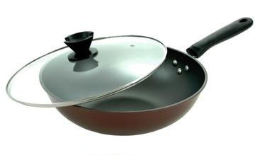 WOK PAN 32cm hlboký nepriľnavý KRYT