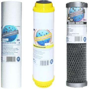 Vodné filtračné kazety pre celý trojstupňový dom