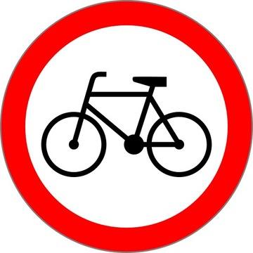 Road Sign B9 600mm Žiadny vstup na bicykli