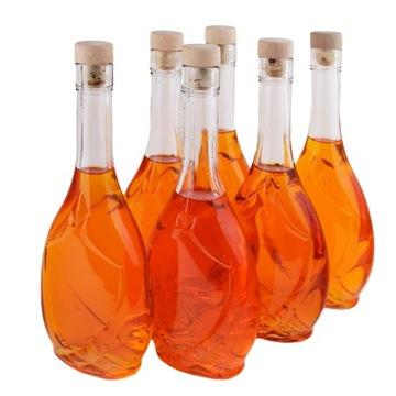 Fľaša na víno, 500 ml tinktúry IRIS + hubová zátka
