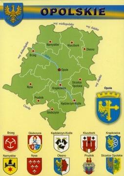 Opolskie vojvodstvo mapa Herby 10ks WR807