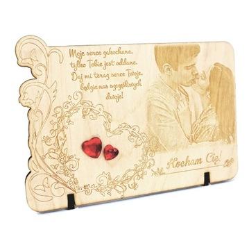 Valentína darček vaše foto rytec na drevo