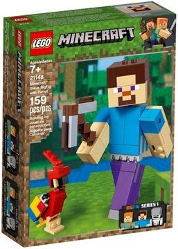 LEGO MINECRAFT 21148 STEVE VEĽKÁ figúrka S PARROTOM