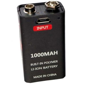 9V batéria na USB 1000 Mah J 6AM6 MN1604 522 CE