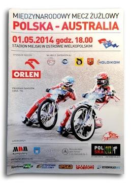 Speedway Program Match Poľsko-Austrália Ostrów 2014