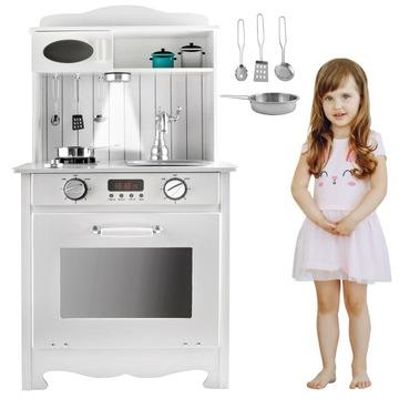 Drevený sporák pre detskú kuchynku + svetlo