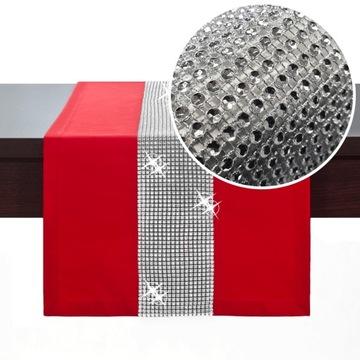 Behúň na stôl CYRKONIE 40x140 OBRUS Glamour