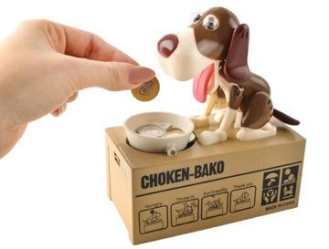 Piggy Bank Interactive Doggy Dog Eats Coins