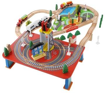Drevený front traťový vlak na 330 cm Batérie