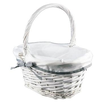 Košík Kôš Veľkonočný prútený biely ovál